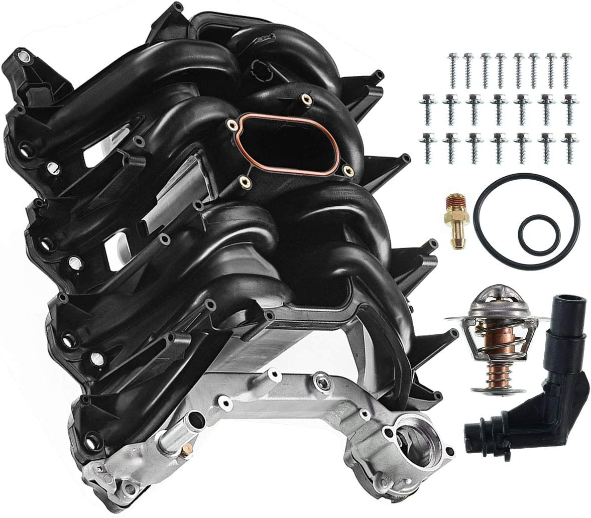 A-Premium Upper Intake Manifold with Gasket Kit for Ford Expedition Excursion F-150 E-150 E-250 E-350 Super Duty