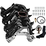 A-Premium Upper Intake Manifold with Thermostat and Gaskets Compatible with Ford F150 E-150 E-250 E-450 2000-2014 Excursion E