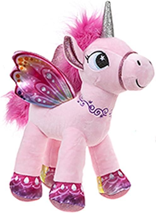 BARRADO Peluche Unicornio con alas de pie - Calidad Supersoft (Rosa, 34cm): Amazon.es: Juguetes y juegos