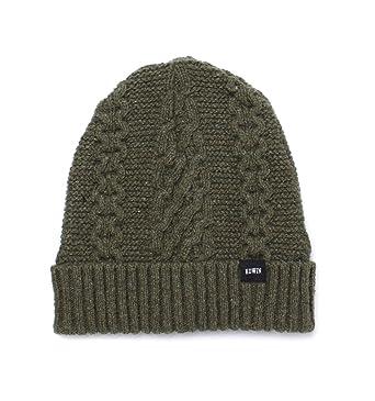 4da3738bf Edwin Olive United Cable Knit Beanie-One Size: Amazon.co.uk: Clothing