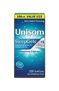 Unisom SleepGels, Nighttime Sleep-Aid, 50 mg Diphenhydramine HCl, 100 Soft Gel Capsules