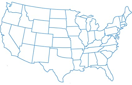 Amazon.com: Home Comforts Laminated Map - Us Map of States ...