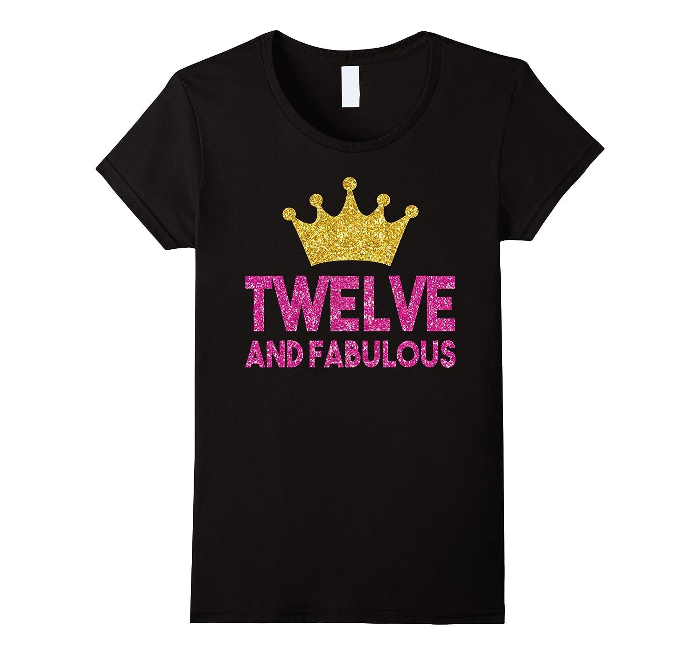 12th Birthday Shirt For Girls: Princess Crown Gift T-Shirt-Art