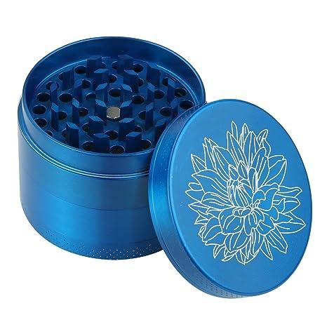 "Blue Mandala 4 Piece Zinc Titanium Metal Herb Grinder 2.5/"" Vintage Grinders D..."