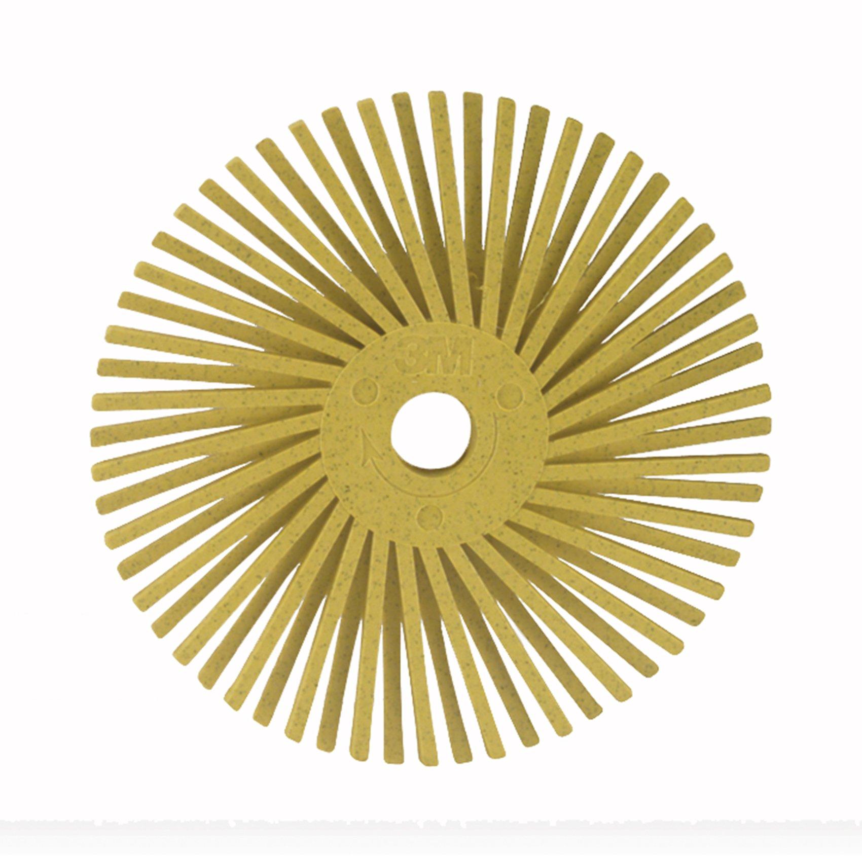 Scotch-Brite(TM) Radial Bristle Disc, Ceramic, 20000 rpm, 3 Diameter, 80 Grit, Yellow (Pack of 10)