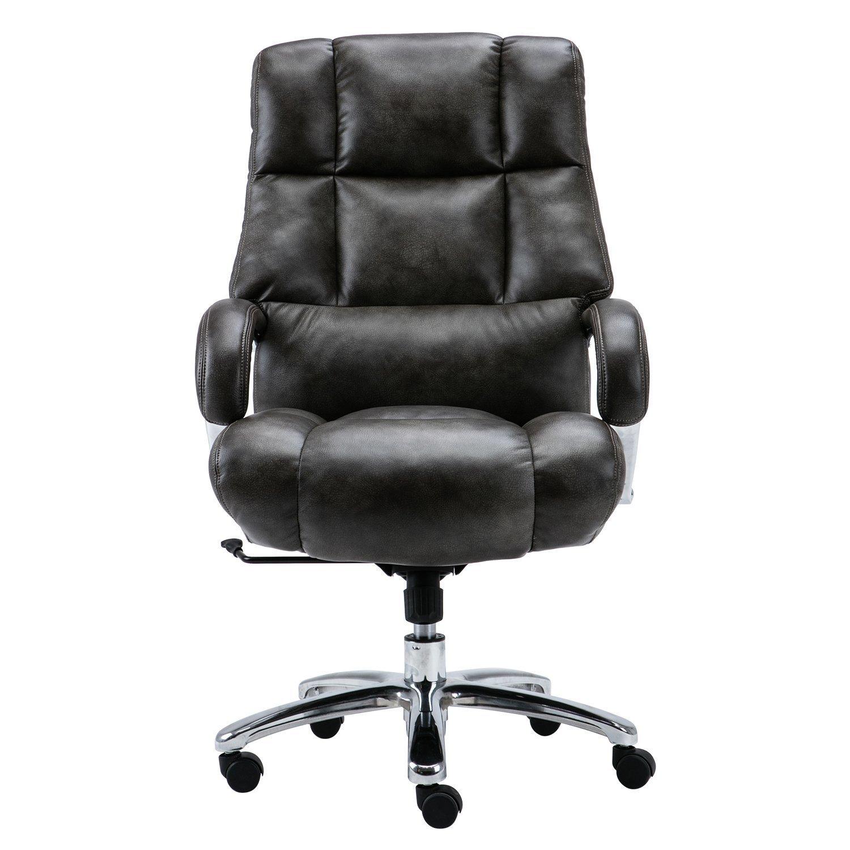 Phenomenal Amazon Com Lyon Big Tall Overstuffed Faux Leather High Back Creativecarmelina Interior Chair Design Creativecarmelinacom