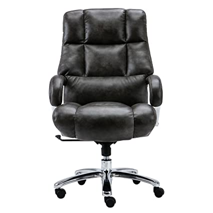Lyon Big Tall Overstuffed Faux Leather High Back Office Chair