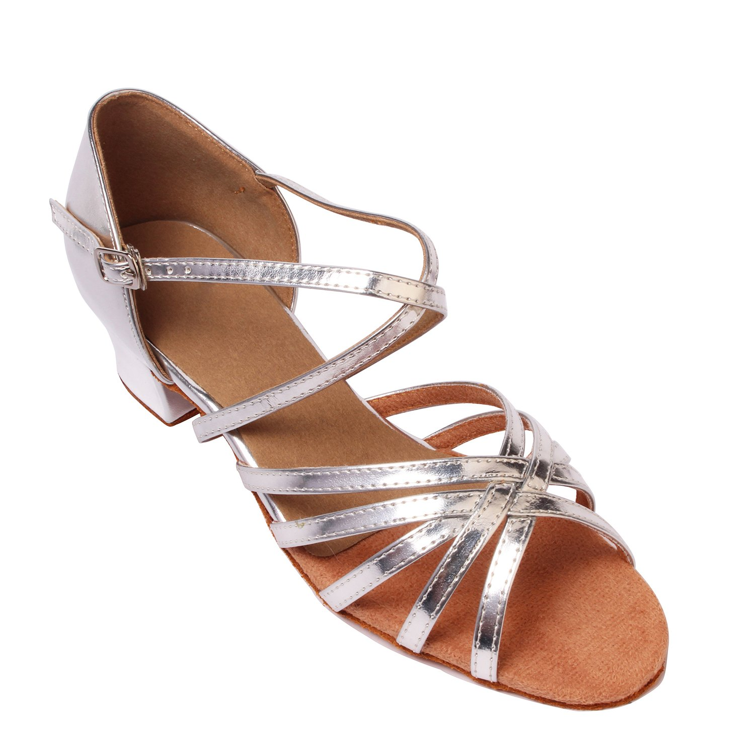 LOVELY BEAUTY Lady's Ballroom Dance Shoes for Chacha B0777P7Q89 Latin Salsa Rumba Practice B0777P7Q89 Chacha 11 B(M) US|Silver e02538