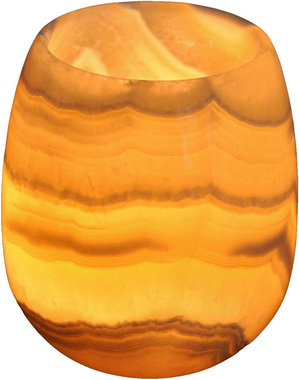 CraftsOfEgypt Egyptian Real Alabaster Stone/Marble Candle Holder Votive