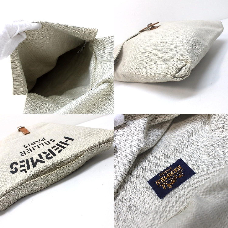 バギーバゲッジ トワルシェブロン/ 【中古】 HERMES エルメス レディース ハンドバッグ 2wayバッグ ナチュラル クラッチバッグ