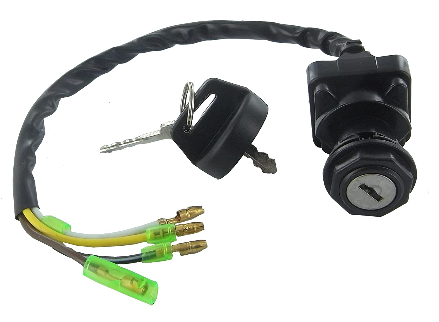 Amazon.com Ignition Key Switch Kawasaki KLF220 Bayou 220 1988 1989 1990 1991 1992 1993 1994 1995 ATV Switch NEW Automotive  sc 1 st  Amazon.com : kawasaki bayou 220 wiring harness - yogabreezes.com