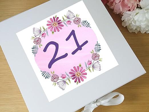 Caja de recuerdos de 21 cumpleaños, 21 regalos de cumpleaños ...