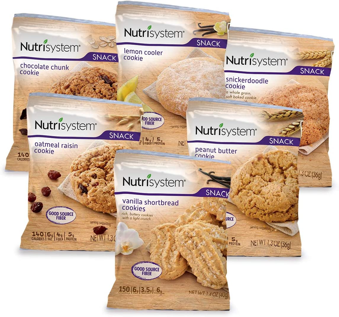 Nutrisystem® Cookie Variety Pack, 24ct, Guilt-Free Snacks to Support Healthy Weight Loss