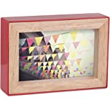 Umbra Fotoblock Picture Frame, 4 by 6-Inch, Red