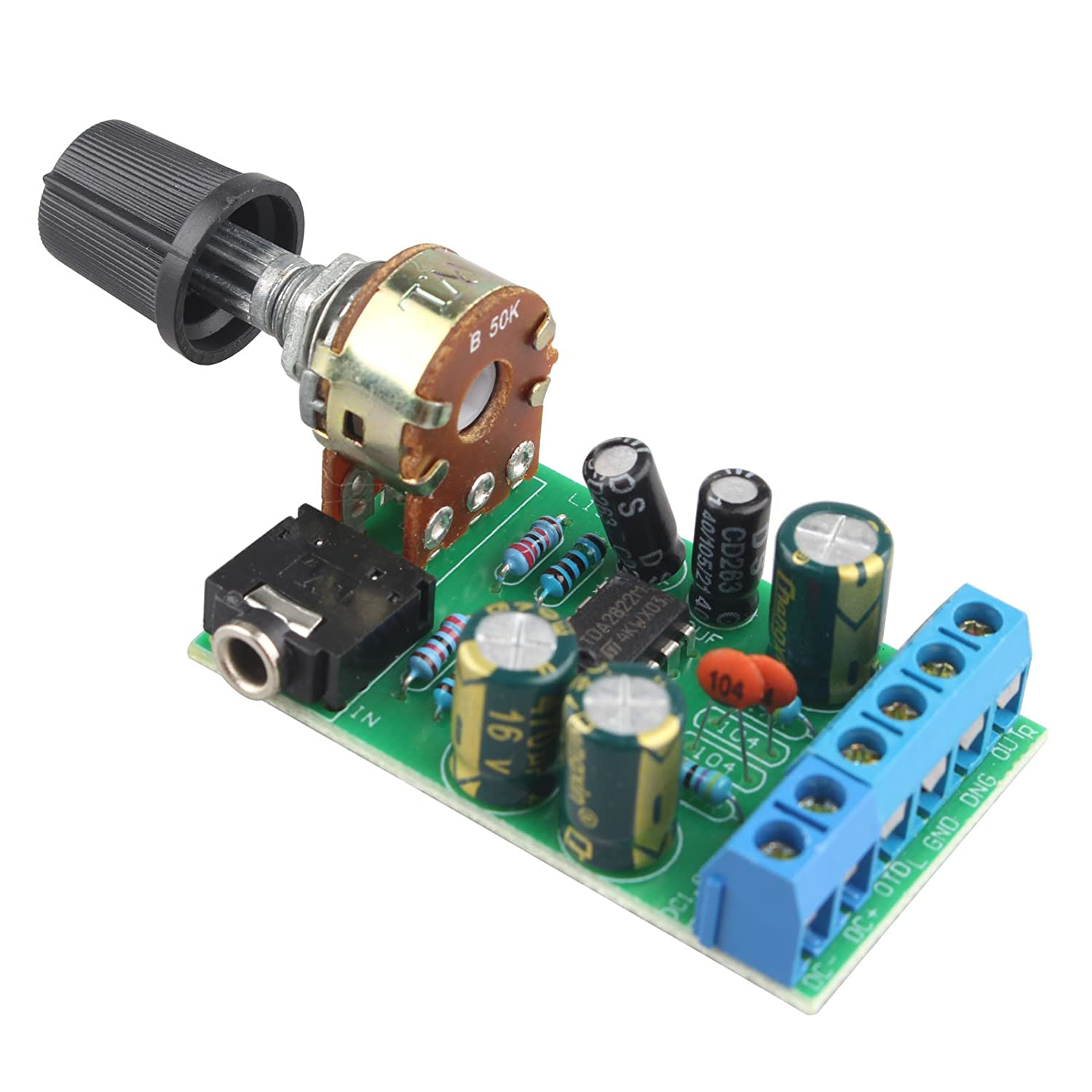Dc18 12v Tda2822m Amplifier 2 Channels Stereo 35mm Tda2822 Audio Power Circuit Mini Aux Amp Board Module Car Electronics