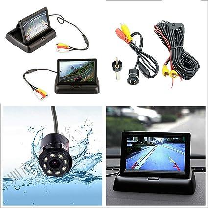 "4.3/""Car Reverse Rear View Foldable Display Monitor+HD Backup Camera/&Radar Sensor"