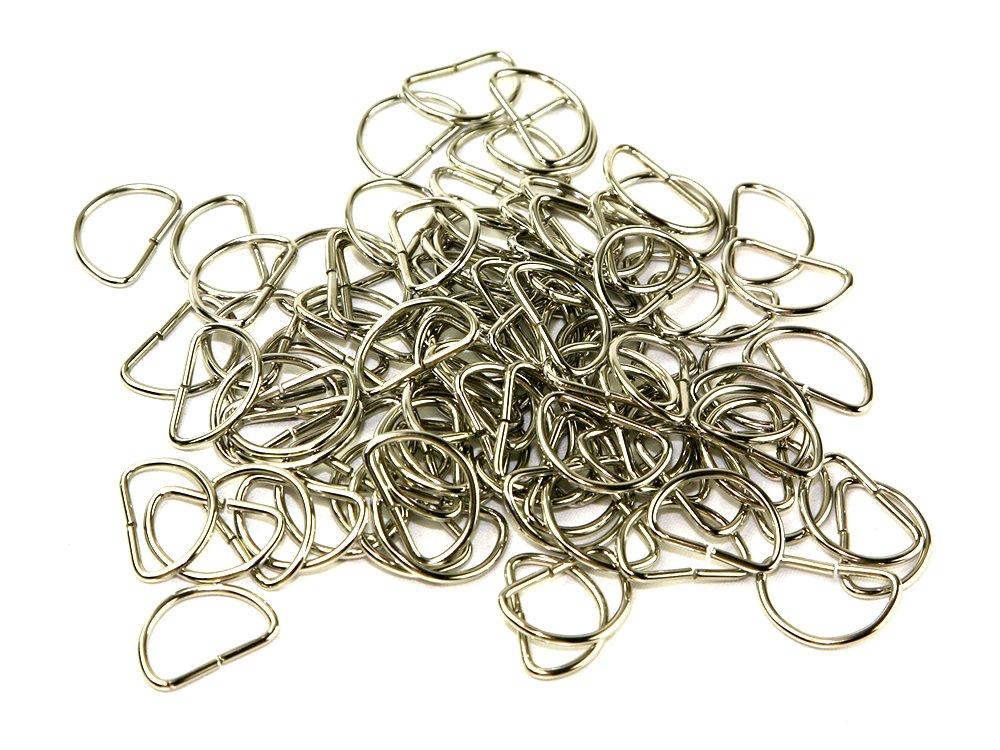 25mm Nickel Silver Metal D-Shape Curtain Rings - Bulk Pack of 2000 Rings