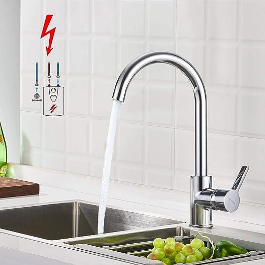 Küchenarmatur Einhandmischer Spültischarmatur  Wasserhahn Küche Spüle 2 Farben B