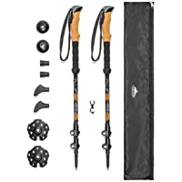 PACK OF 2 TheFitLife Nordic Walking Trekking Poles With Antishock And Quick Lock