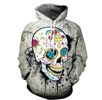 Skull Graphic 3D Print Women//Men Hoodie Sweatshirt Pullover Jumper Coat Jacket