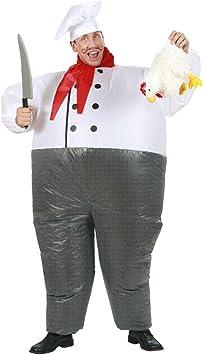 NET TOYS Traje Hinchable Cocinero Jefe de Cocina airsuit ...
