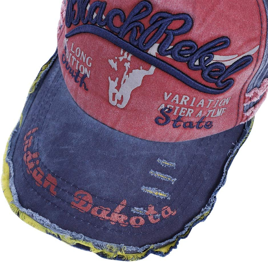 ITODA Vintage Cotton Baseball Cap Adjustable Peaked Cap Distressed Snapback Hat Breathable Do Old Hat Washed Baseball Hat Sport Hiking Running Traveling Trekking Cap for Women Men