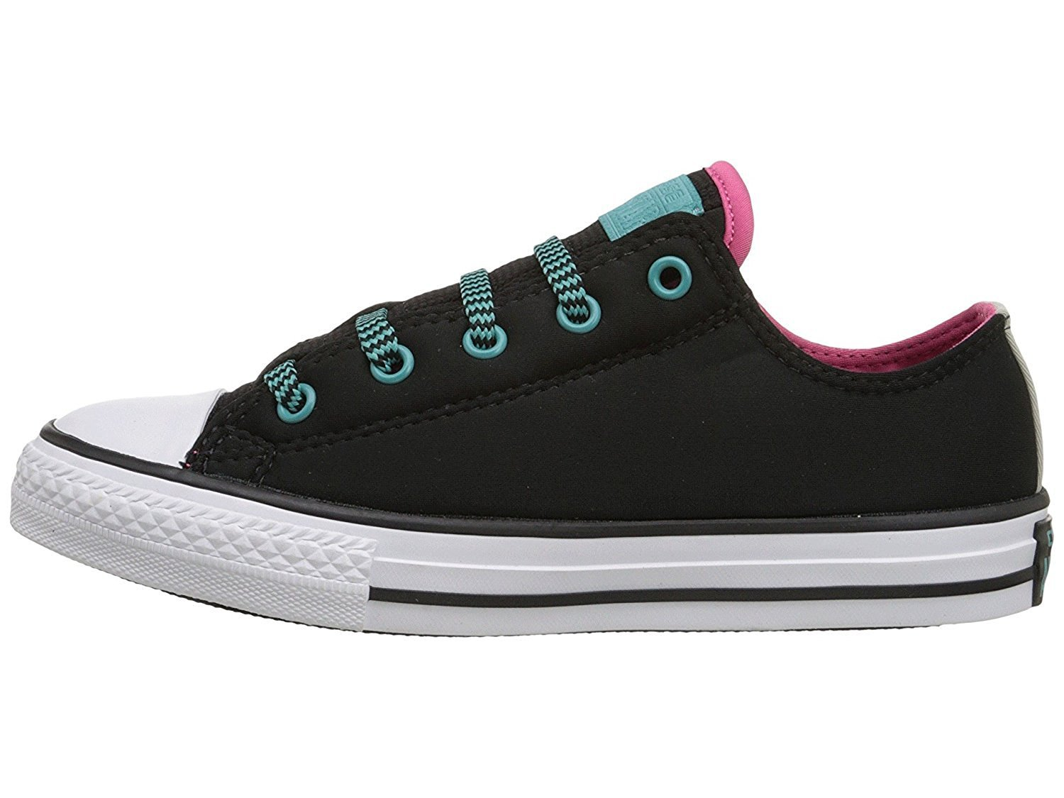 Details about Converse Chuck Taylor All Star Loopholes Ox BlackVivid PinkAqua size 2 junior