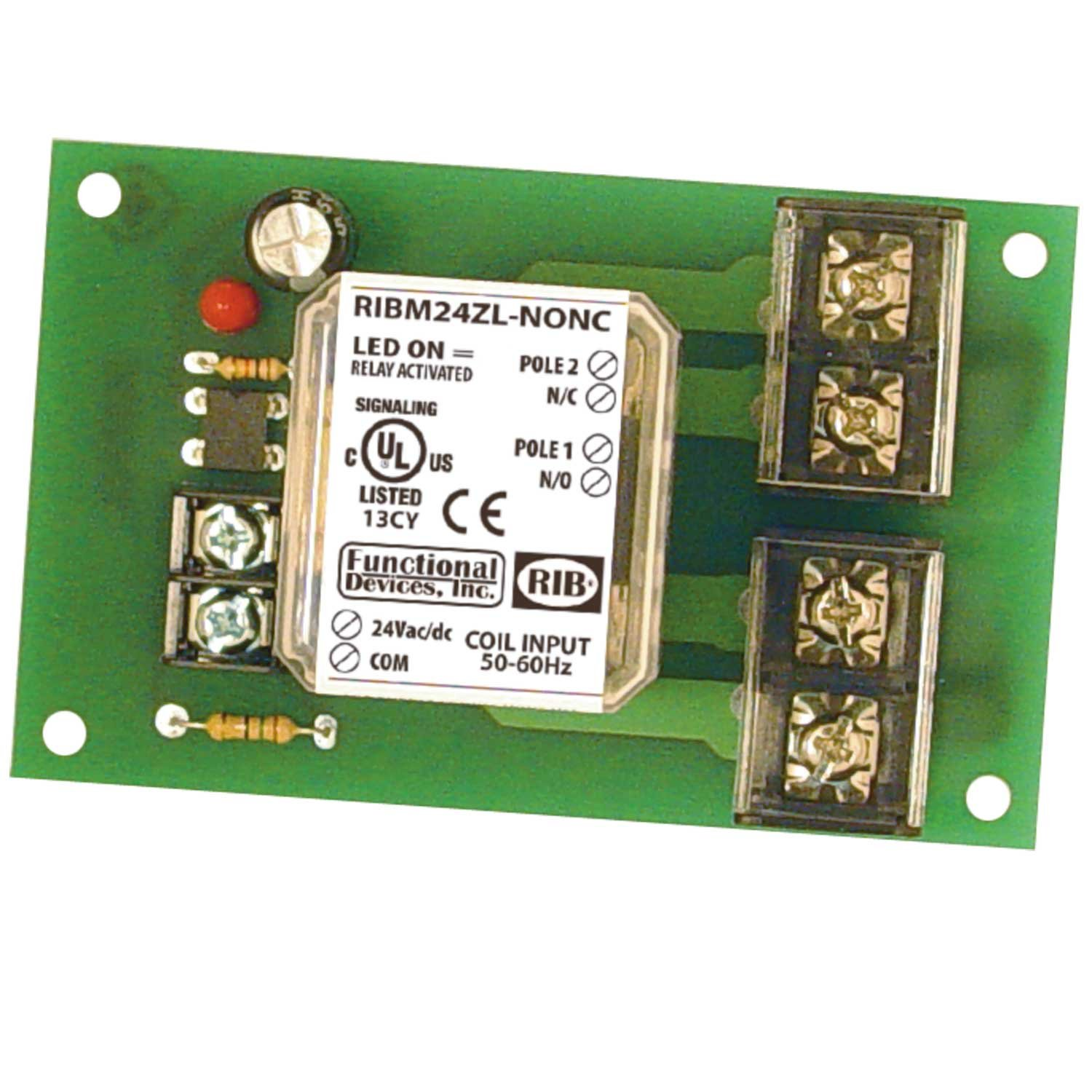 Panel Relay 4.00x2.35in 30Amp DPST-NONC 24Vac/dc
