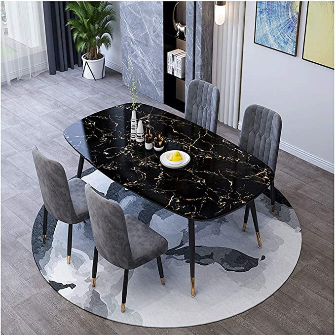 Gaohh Office Tables And Chairs Small Round Table Sales Department Tea Shops Bakery Restaurant Reception Coffee Table Business Table Lounge Living Room Balcony Bedroom 1 Table 4 Chairs 120 X 70 Cm