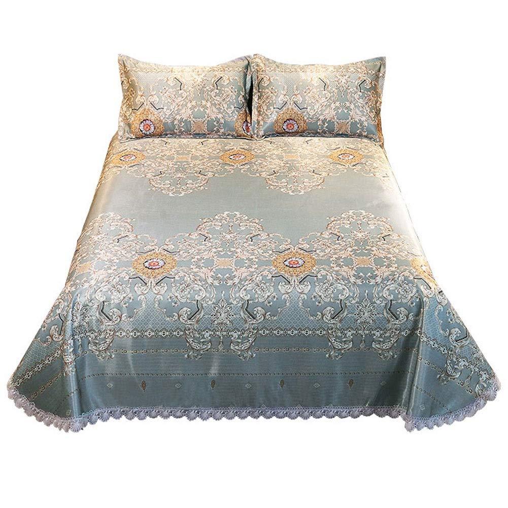 NLNL 夏スリーピングマットスリーピングパッドマットレストッパーアイスシルクマットベッドシーツと枕カバーセットスリーピーススーツ3サイズ (Size : 1.8x2.0m bed) B07TBQC1CJ  1.8x2.0m bed