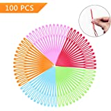 LoveInUSA 100 PCS Safety Plastic Lacing Needles for Sewing Handmade Crafts