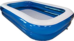 KitGarden - Piscina Hinchable Rectangular 660 litros, 260x175x51cm, Azul/Transparente, Pool 262TAZ: Amazon.es: Jardín
