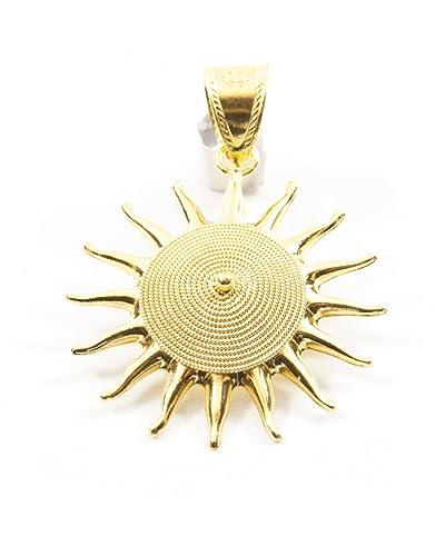 Pendentif soleil Corbula en or jaune 18 cts  Amazon.fr  Bijoux 208072316478