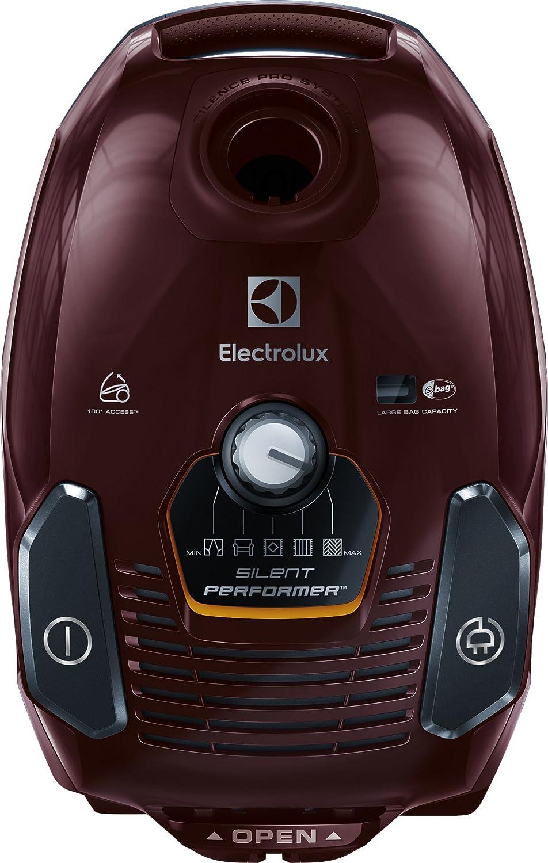 Electrolux esp75bd Aspiradora con saco Silent Performer, ErgoShock, sistema Silence Pro, ruedas giratorias, 650 W, 3.5 liters, Dark Bordeaux: Amazon.es: Hogar