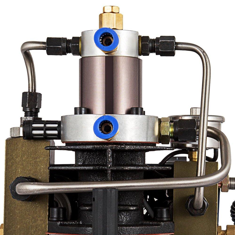 InLoveArts Hochdrucksystem Gewehr Luftpumpe Einstellbare Schwarz 8 Verbesserte Version Elektrische Luftkompressor f/ür Luftgewehr Gewehr PCP Inflator Geeignet f/ür Motorr/äder und Fahrradreifen