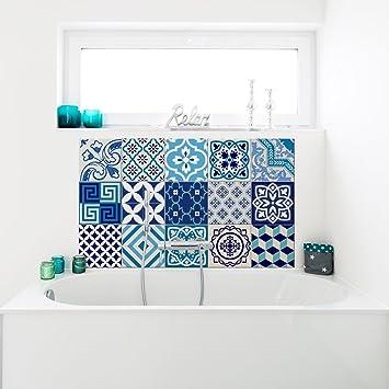 Ambiance-Live 15 Aufkleber Fliesen | Sticker Selbstklebend Fliesen – Mosaik  Fliesen Wandtattoo Badezimmer und Küche | Fliesen Kleber – AZULEJOS, ...