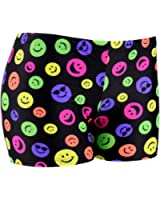 Tuga Juniors'/Women's Smiley Face Spandex Shorts, 6 Inch Inseam