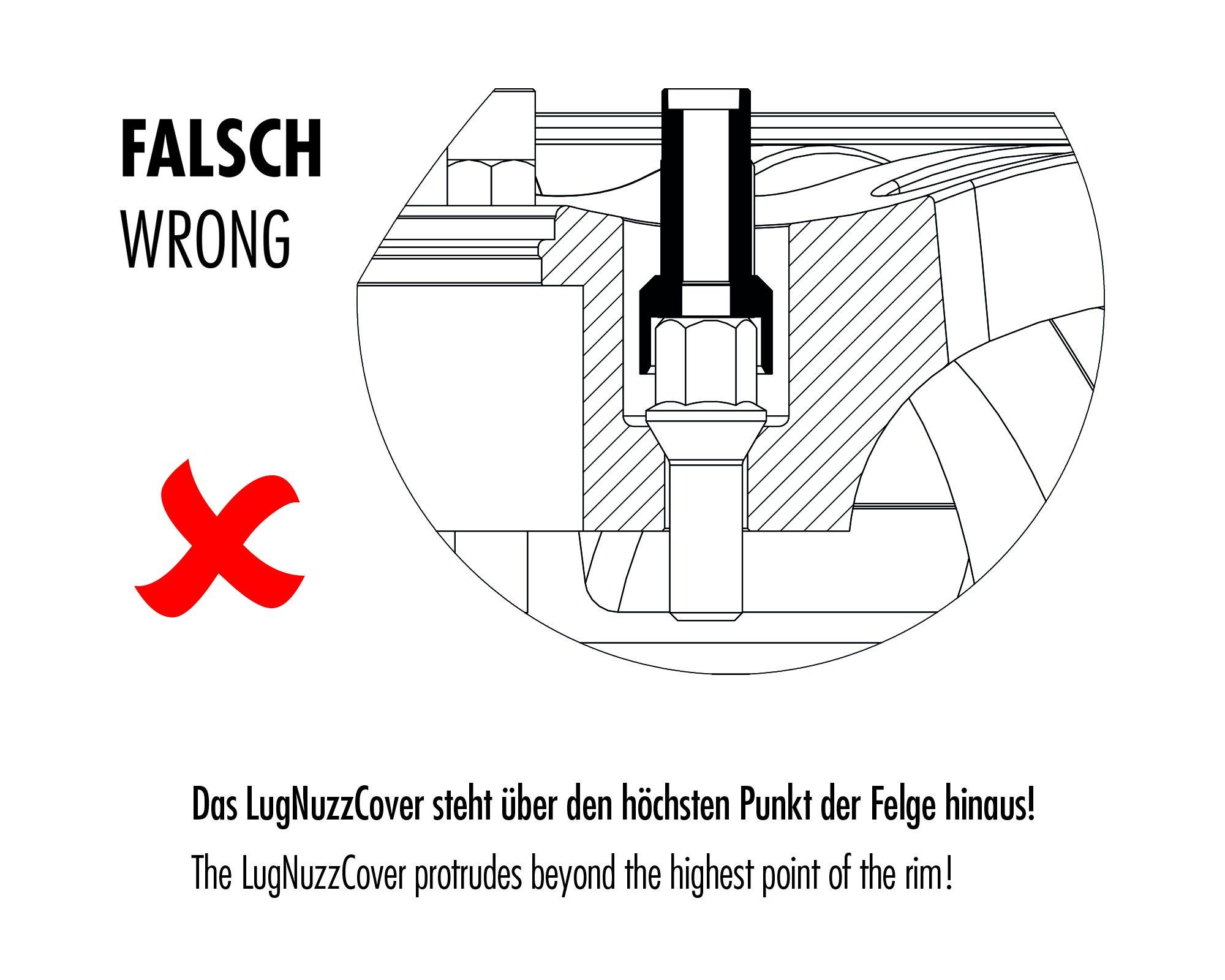 Foliatec F37200 LugNuzz Cover Set, Green Anodized, Size 17 mm, Set of 20