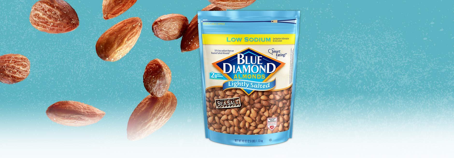 Blue Diamond Almonds Low Sodium Lightly Salted, 40 oz by Blue Diamond Almonds (Image #3)