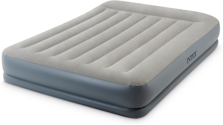 Intex Classic Dura Beam Air Mattress Bed w// Pillow Rest Pump Full Open Box
