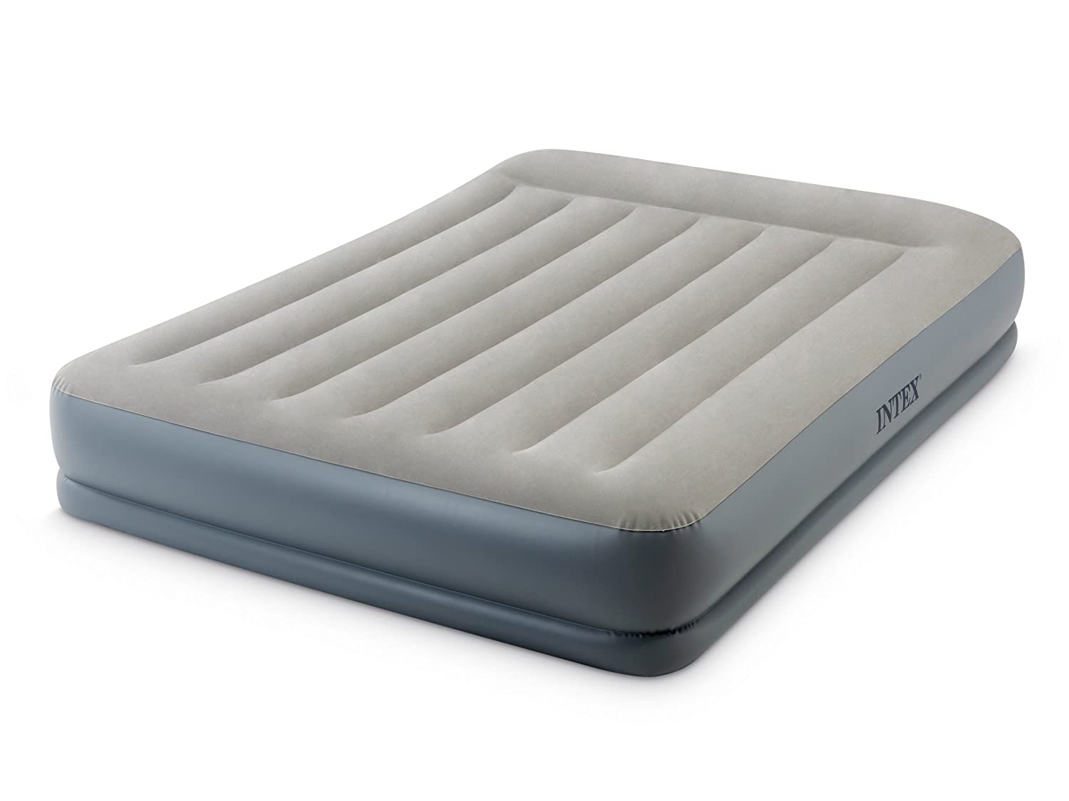 Intex 64118 Queen Size Pillow Rest Mid-Rise Airbed with built in Electric Pump and Fiber-Tech Construction UK Spec INTEX INDUSTRIES (XIAMEN) CO. LTD. 64118BS