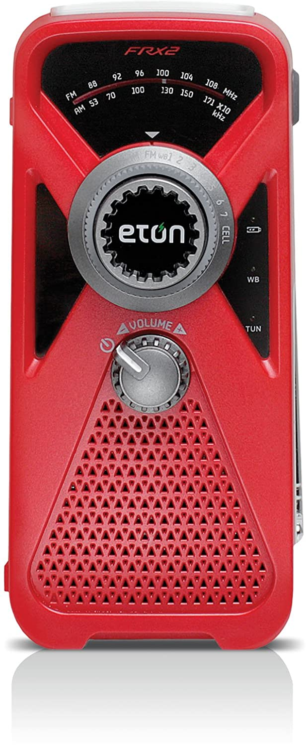Eton NFRX2WXB Hand Turbine AM/FM Weather Radio with Smartphone Charger (Black)