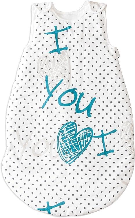 I Love You (Te amo) PatiChou Sacos de dormir sin relleno para bebés 24-36 meses (110 cm, 0.5 tog): Amazon.es: Bebé