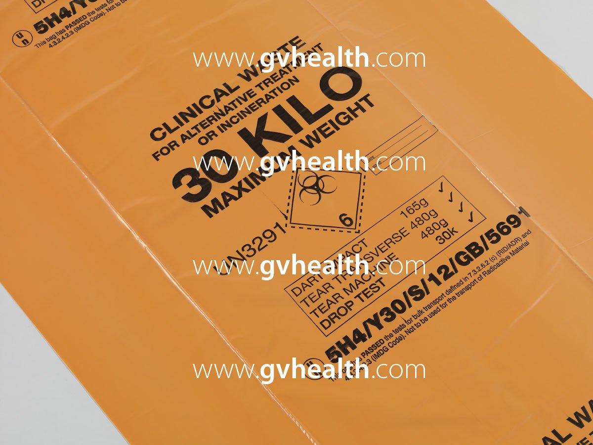 90L Large Orange Bulk Handling Clinical Waste Bag 30kg (Box of 100) GV Health MVN455