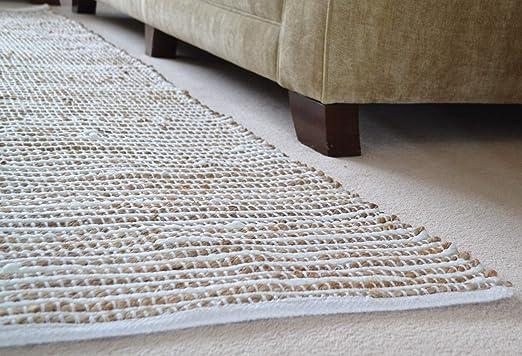 Designs Emporium Chindi Alfombra algodón Beige Natural Yute Suave, algodón, Crema, 230x180cm: Amazon.es: Hogar