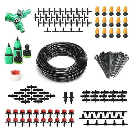Pathonor Neue DIY Bew/ässerungssystem 40m Bew/ässerung Kit Micro-Drip-System Garten automatische Bew/ässerung automatische Sprinkler Tr/öpfchenbew/ässerung Gartenbew/ässerung