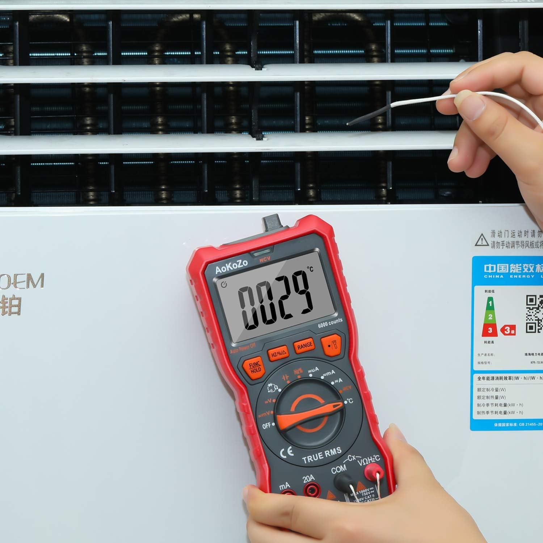 Digital Multimeter/Tester AoKoZo 6000 Counts Auto-Ranging Volt Meter,TRUE RMS