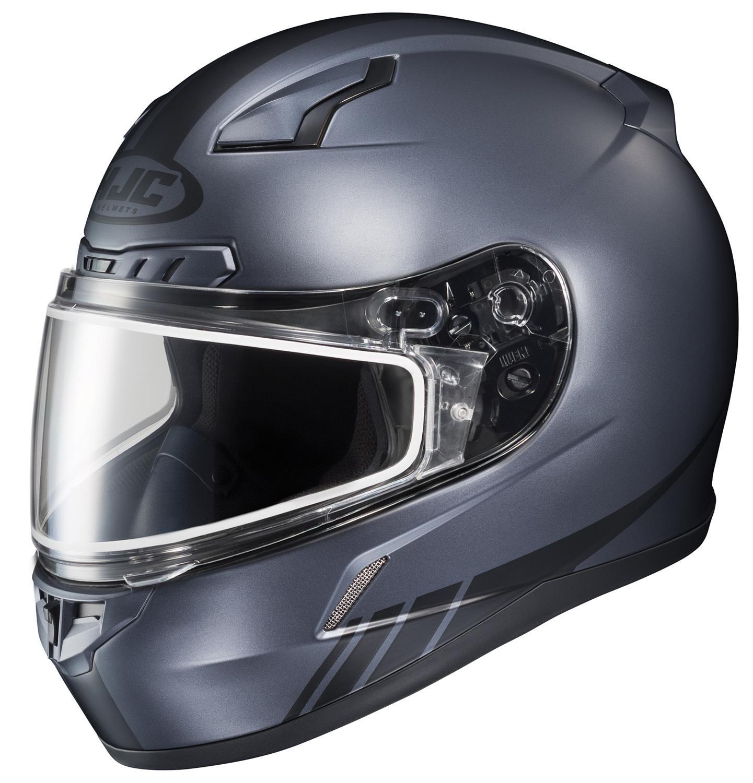 HJC CL-17SN Streamline Full Face Snow Helmet Frameless Dual Lens Shield (MC-5F Anthracite/Black, Large)