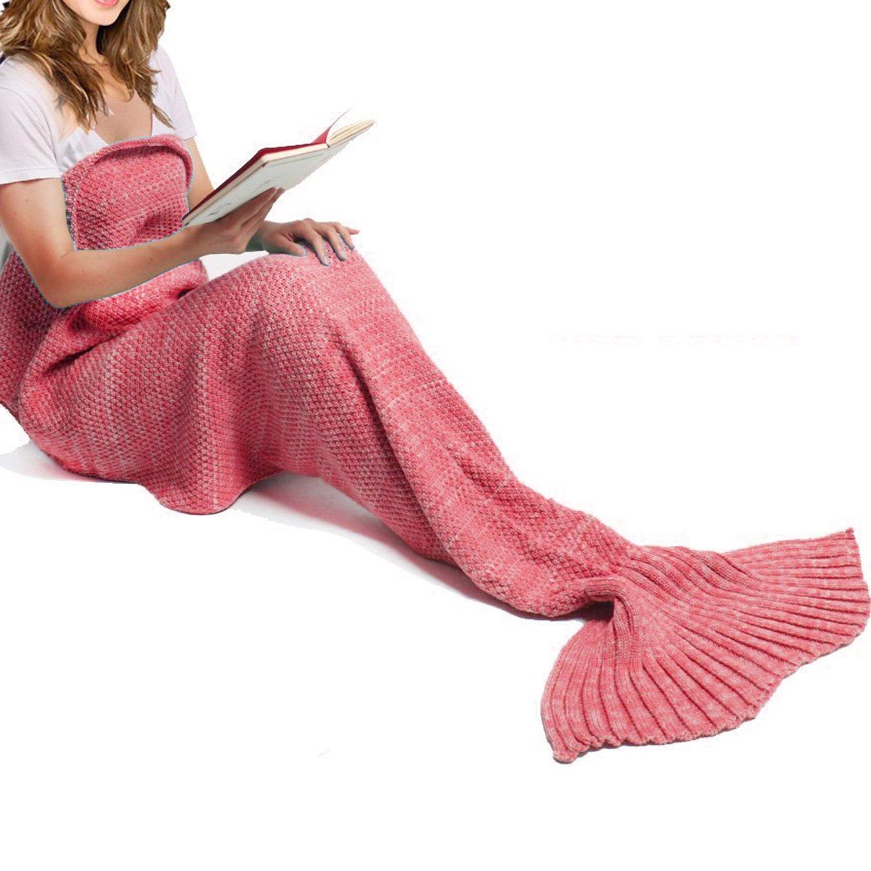 YOEEKU Tejer patrones cola de sirena manta, Super suave y Moda toda ...