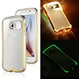 ULAK [LUMENAIR] Incoming Call Flash -Absorbing Glow Bumper and Ultra Clear Hard Panel Slim Protective Case Cover for Samsung Galaxy S6